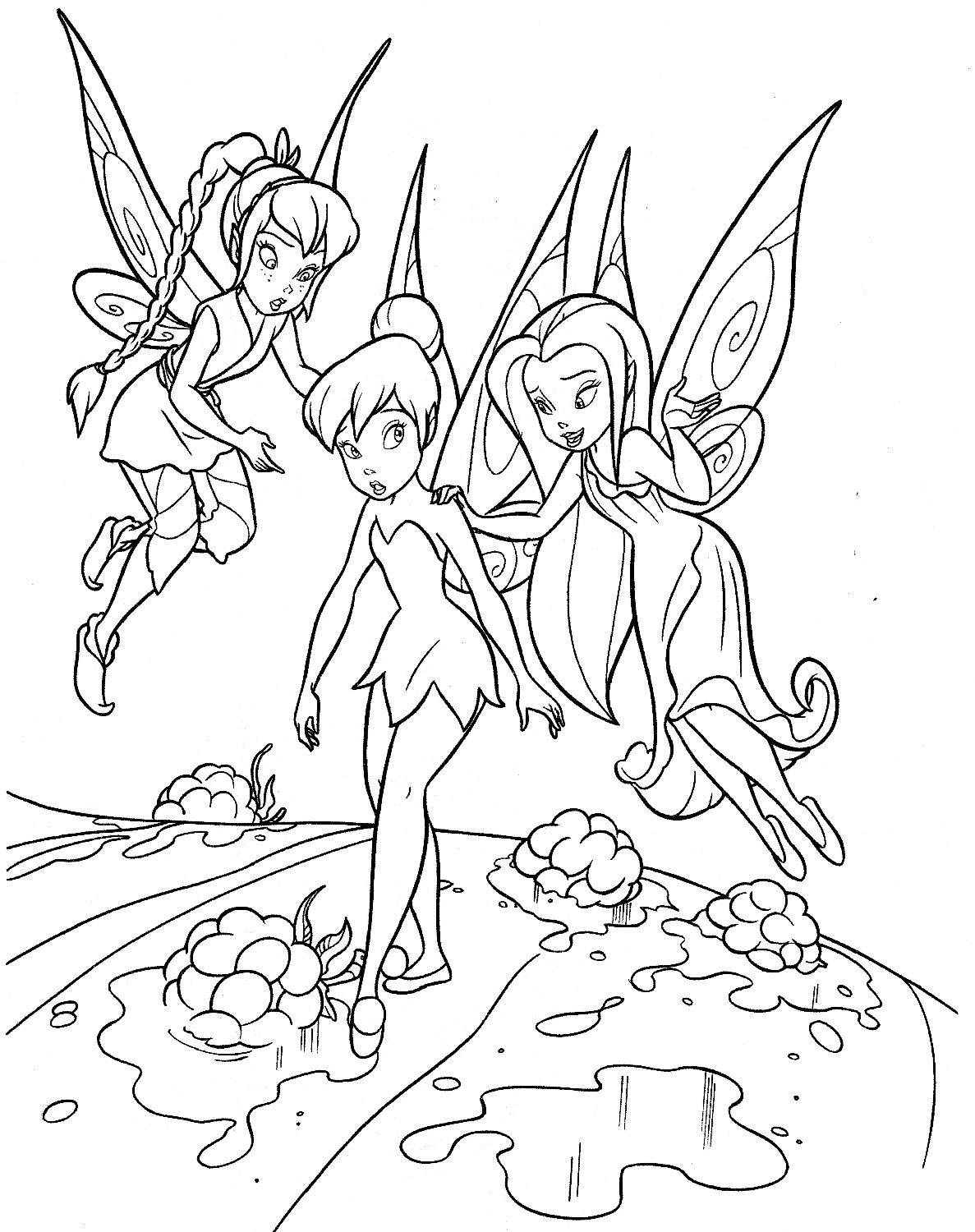 tinkerbell coloring - Tinkerbell Coloring Book