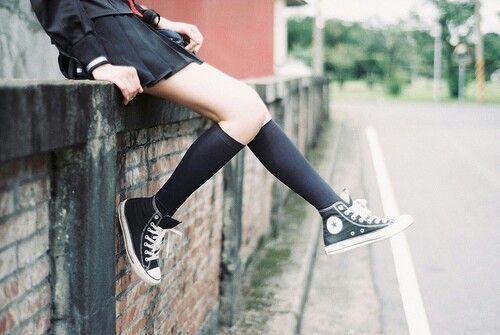 1bfc6d0f748bff Japanese school uniform with converse ❤