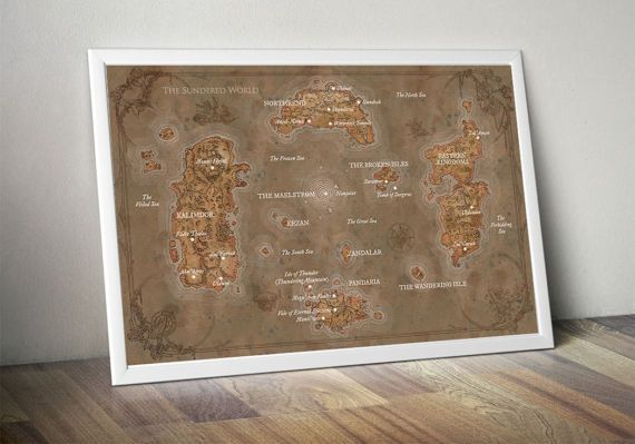 WOW map, World of Warcraft map, Lands of Kalimdor, Eastern ...