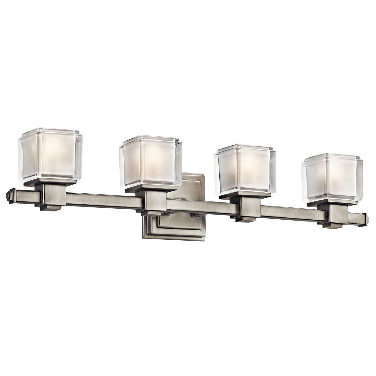 Bathroom Lighting Universe kichler lighting 45144 rocklin 4 light bathroom light - lighting