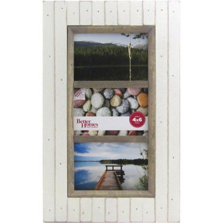 Better Homes and Gardens Oracoke 3-Photo Soft White Picture Frame ...