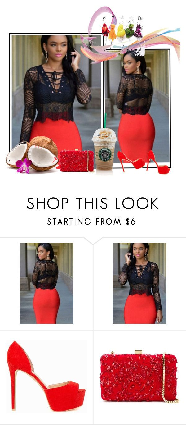 """""""Black Long Sleeve Lace-up V Neck Club Top"""" by chenzoe ❤ liked on Polyvore featuring Nly Shoes and Elie Saab"""