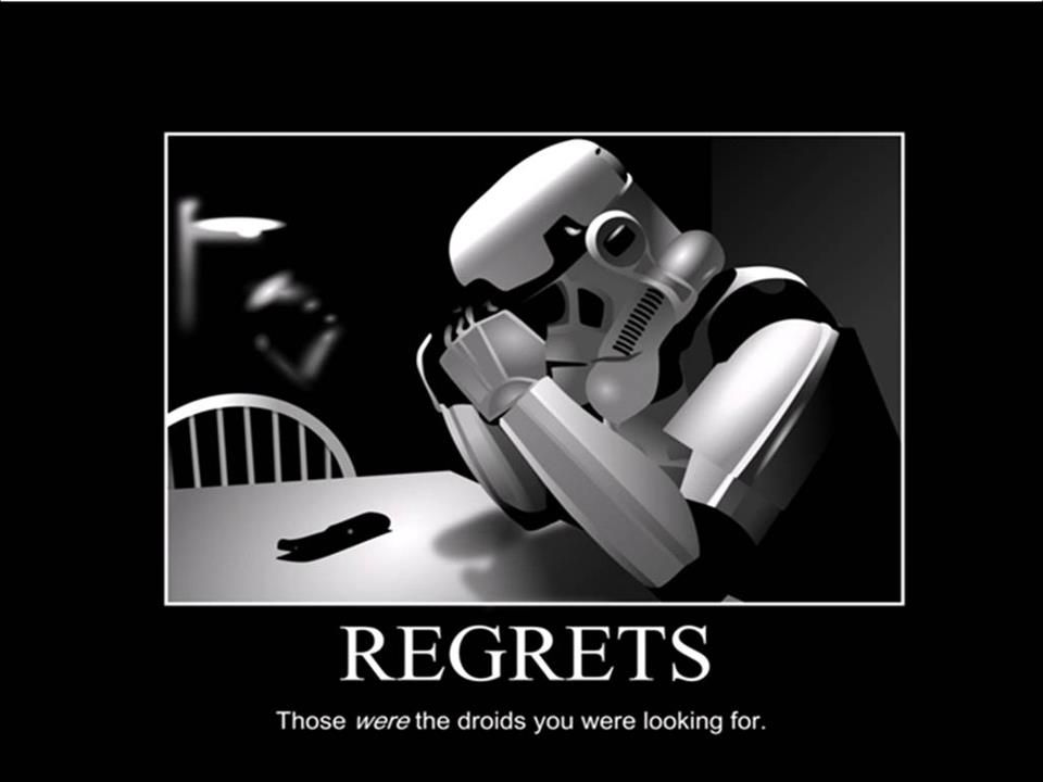 For the geeks :-)  Regrets...those WERE the droids you were looking for.