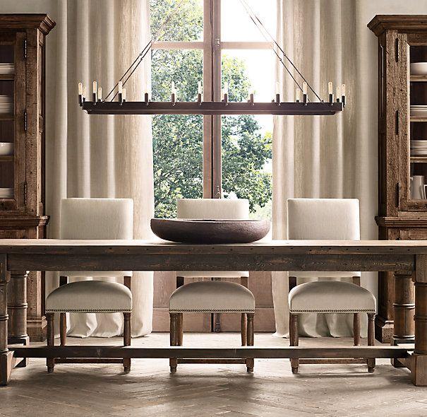 rectangular dining room light fixtures | Camino Vintage Candelabra Rectangular Chandelier 52 ...