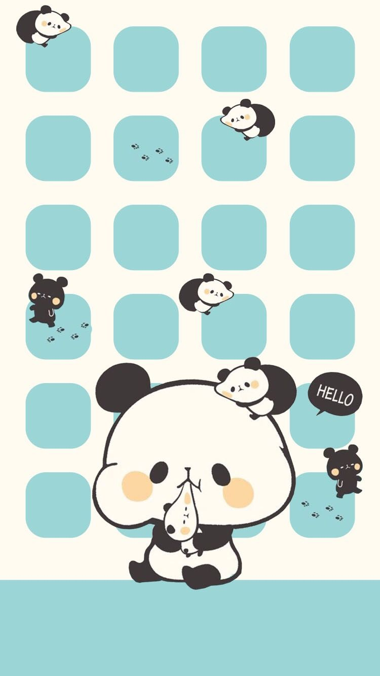 Pin By Pooki On Cute Animals Iphone Wallpaper Girly Cute Panda Wallpaper Graffiti Wallpaper Iphone