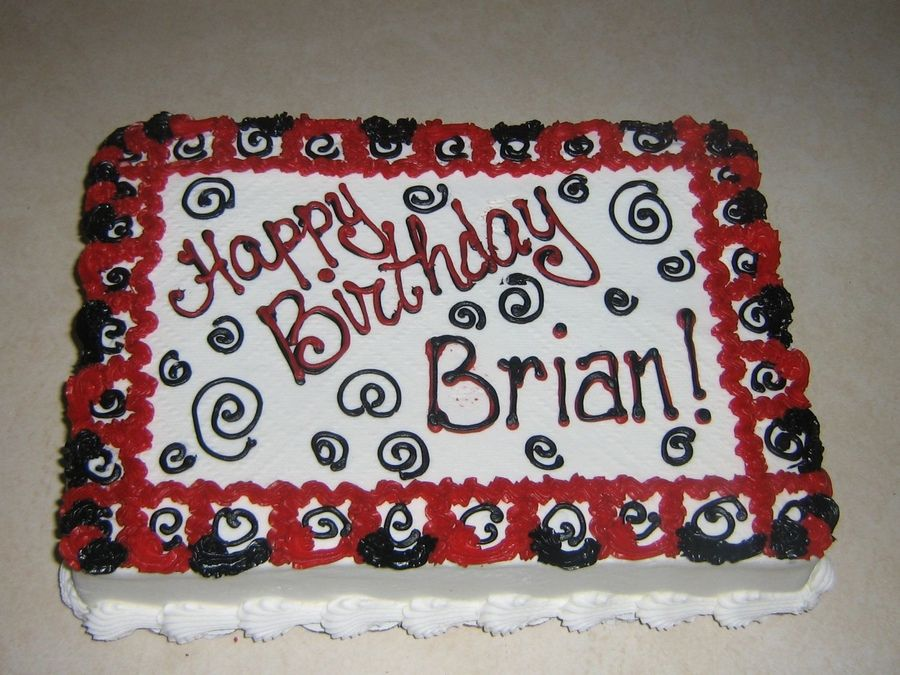 40th Birthday 1 4 Sheet Cake Pictures For Men Red Black