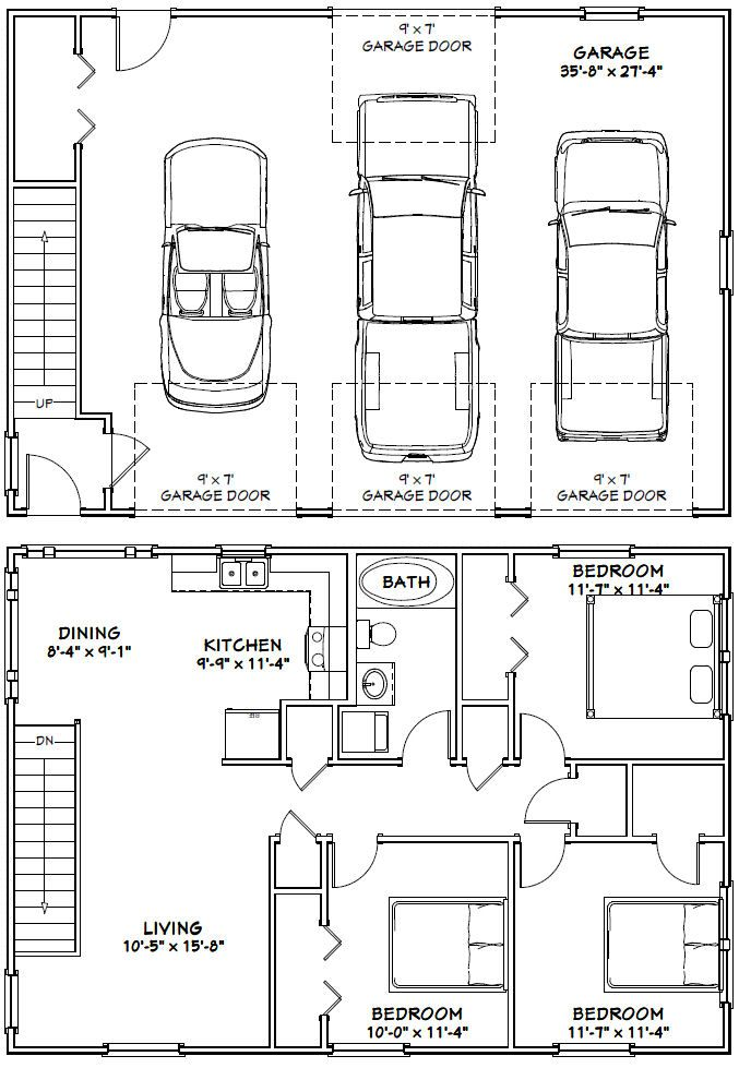 PDF house plans, garage plans,  shed plans House Floor Plans