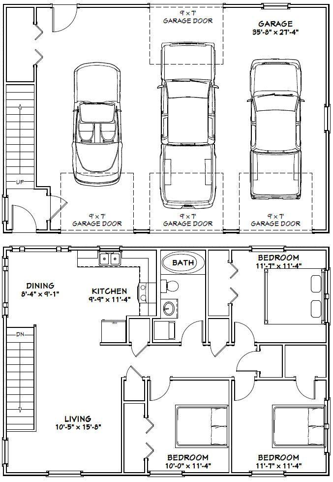 PDF house plans, garage plans, & shed plans. | Garage plans | Garage floor plans, Garage ...