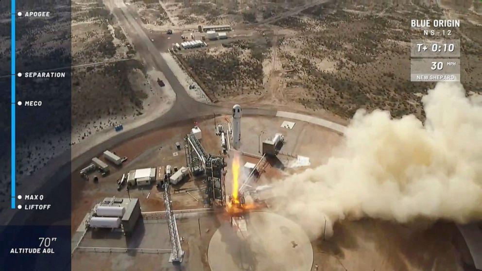 Blue Origin launches, lands identical rocket history 6