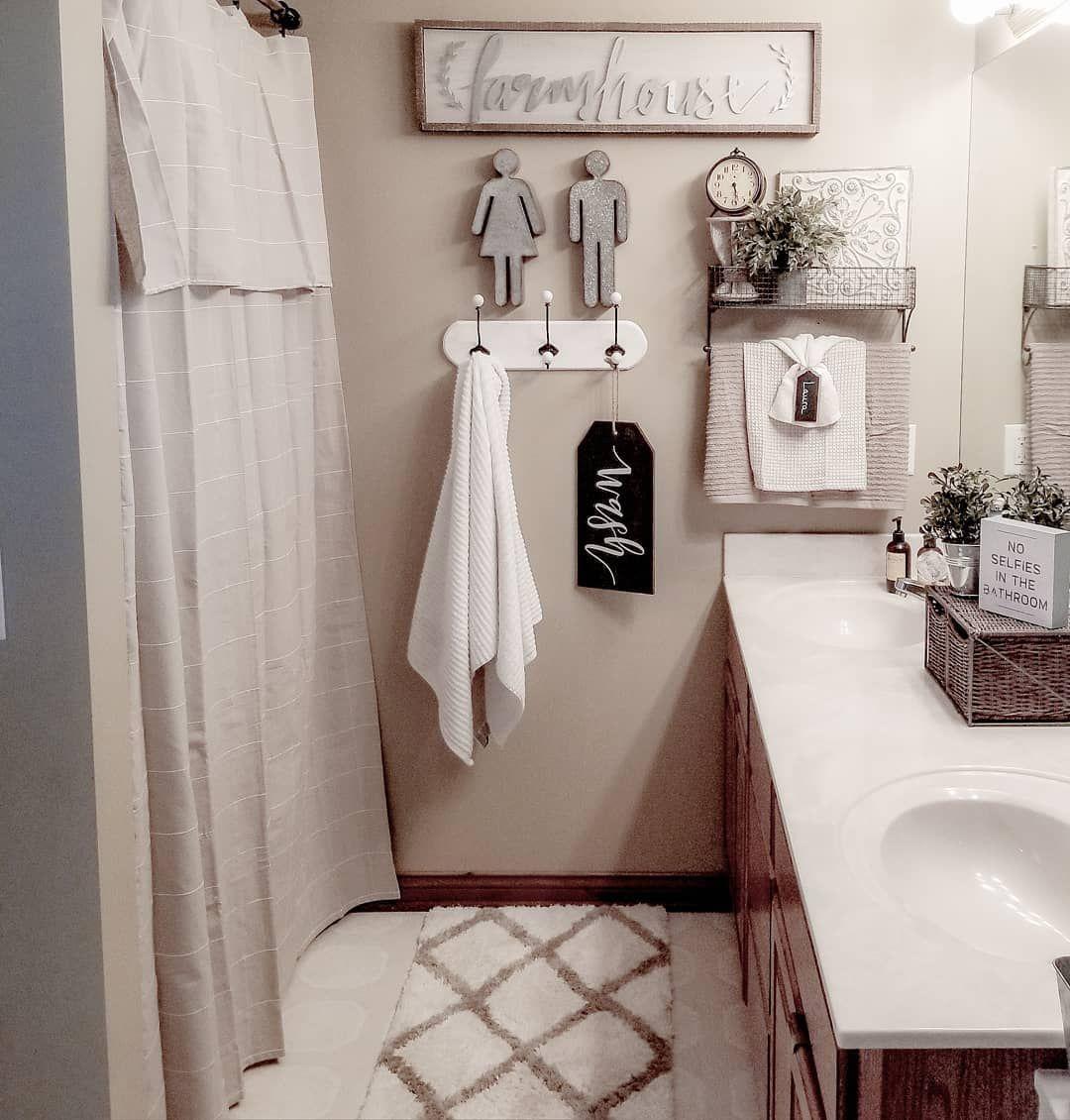 Farmhouse style bathroom decor rustic bathroom decor