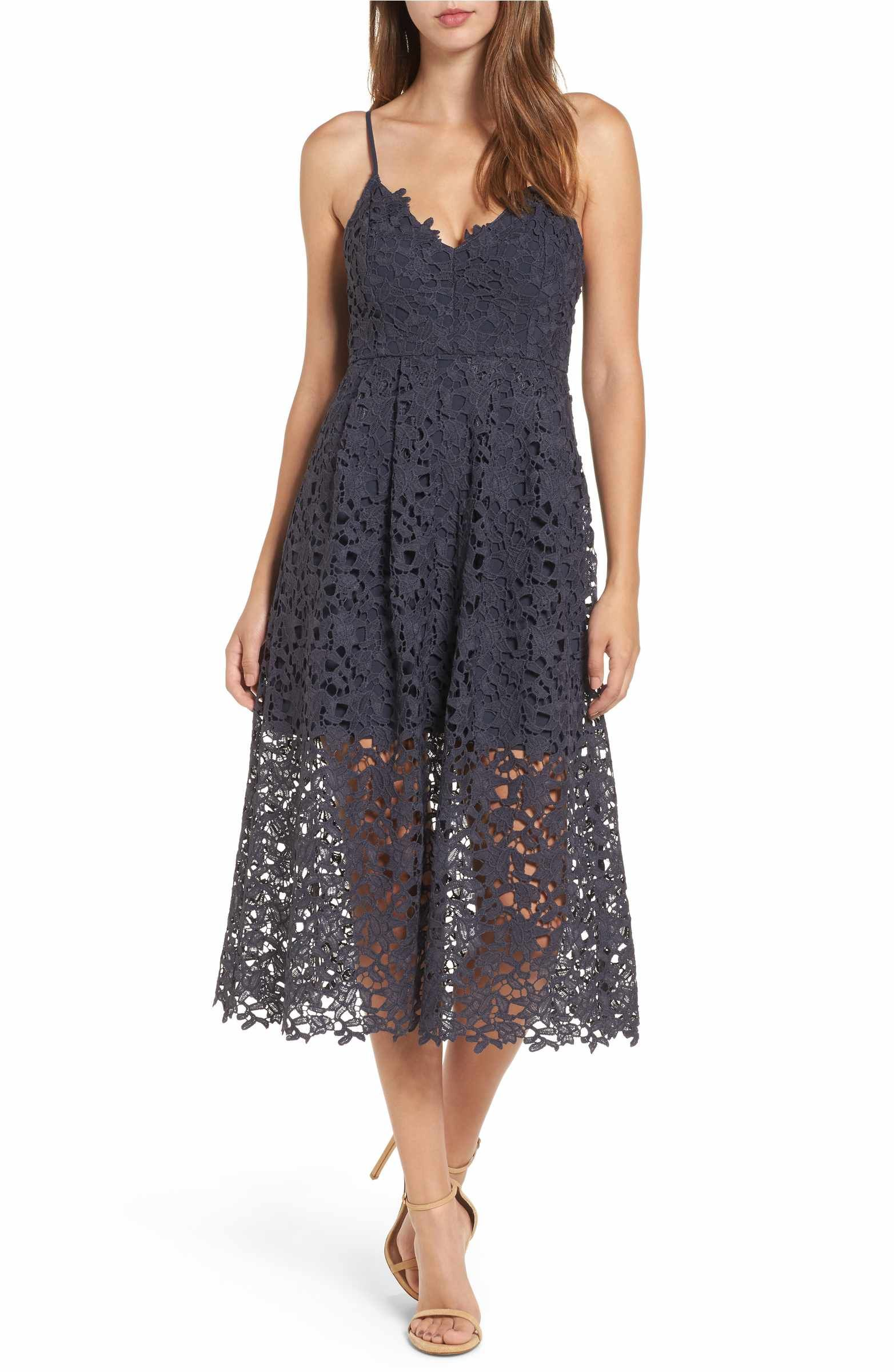 46affbc50200 Main Image - ASTR the Label Lace Midi Dress