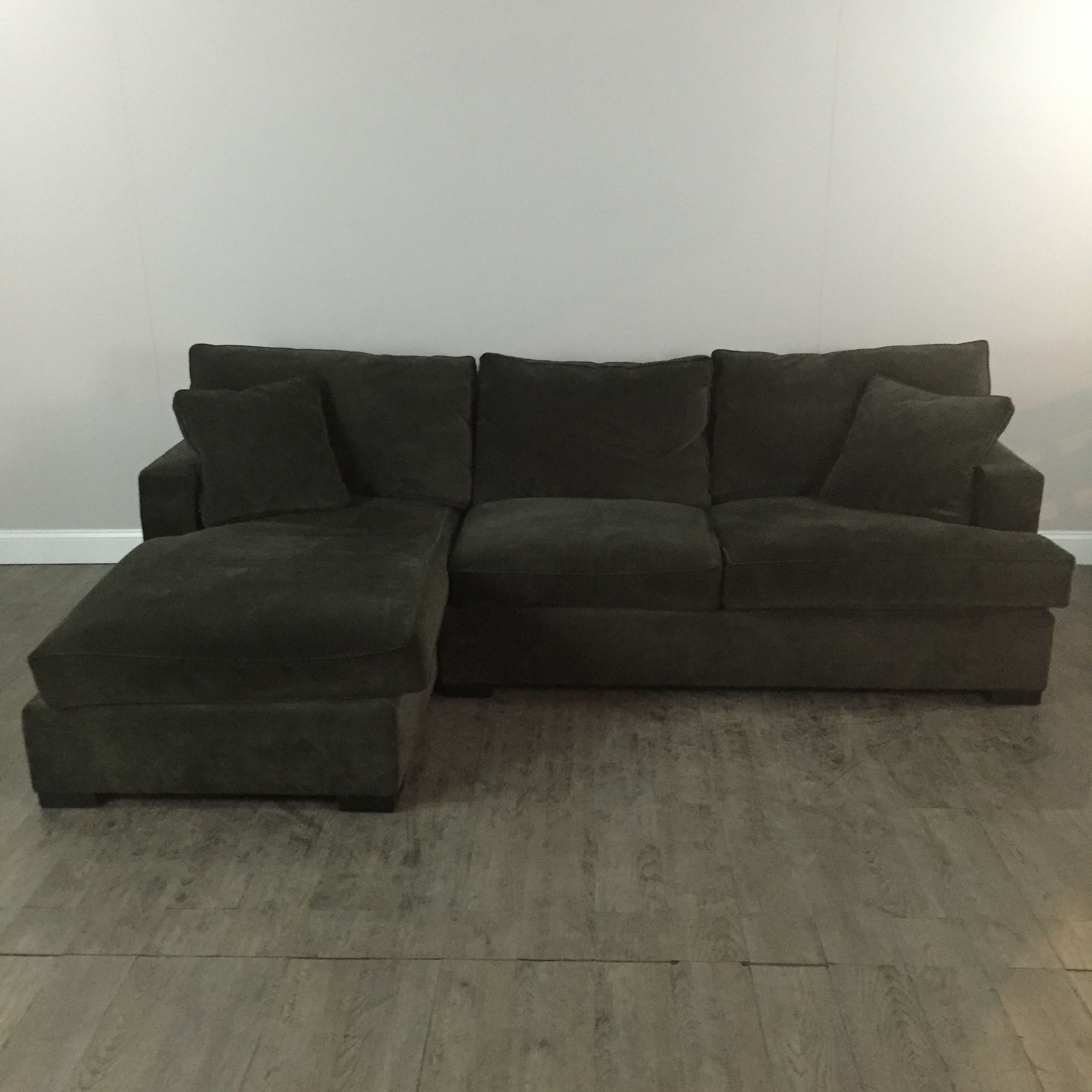 Micro Suede Hunter Green Sectional Sofa by Arhaus Chicago IL