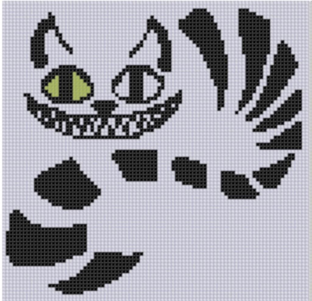 10) Name: \'Embroidery : Cheshire Cat Cross Stitch Pattern | Caballos ...