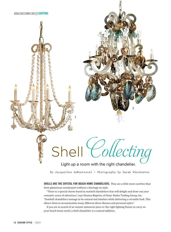 Coastal chandeliers from outer banks trading group featured in coastal chandeliers from outer banks trading group featured in seaside style magazine http mozeypictures Images