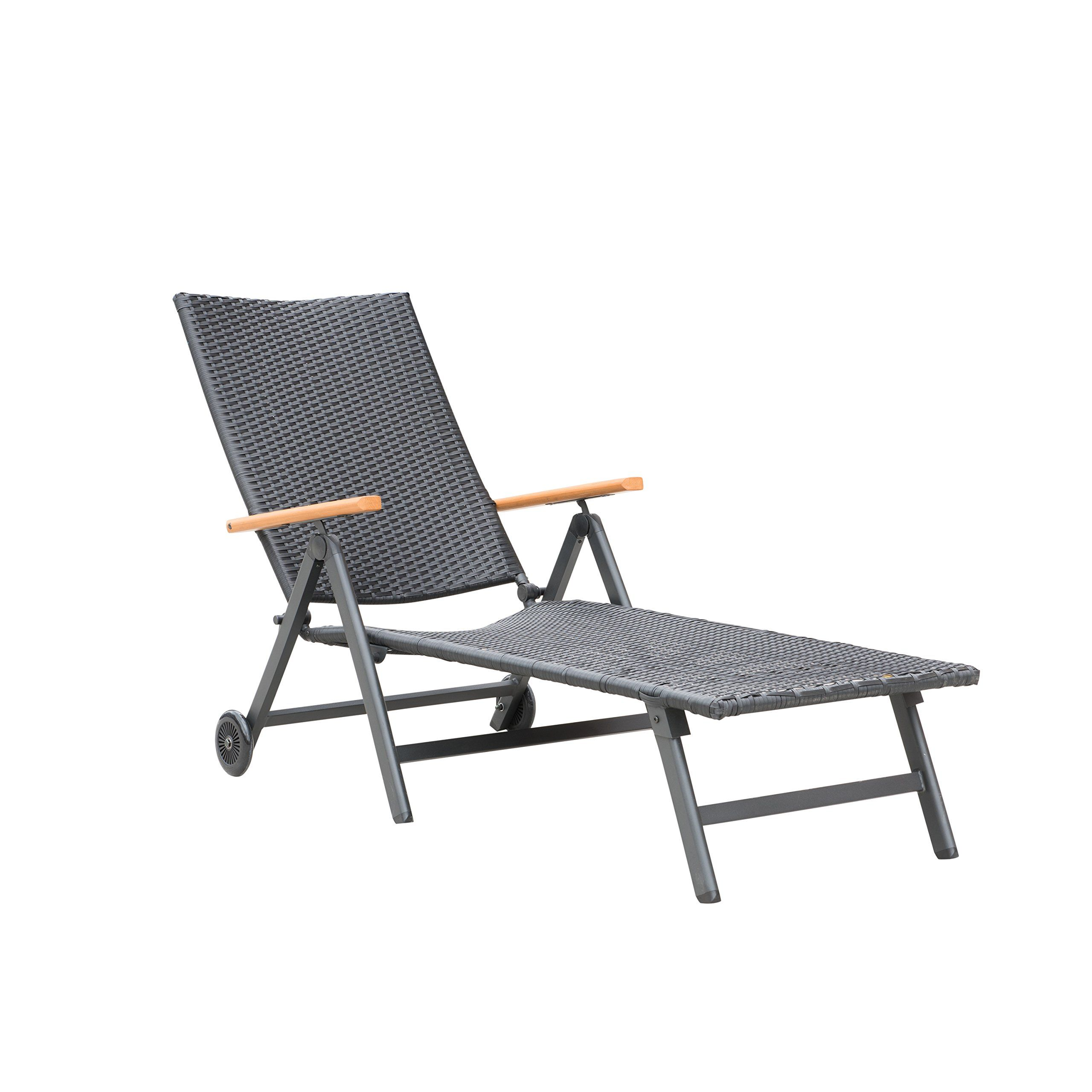 Metal And Wood Outdoor Furniture supernova wicker chaise lounge patio chair outdoor yard beach