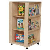 "Found it at Wayfair - Library and Display Center For the ""worship center""....matches the existing bookshelf/storage cart. This has deep cubbies on two sides and shallow book display on two sides. On wheels so it can be stored when needed."