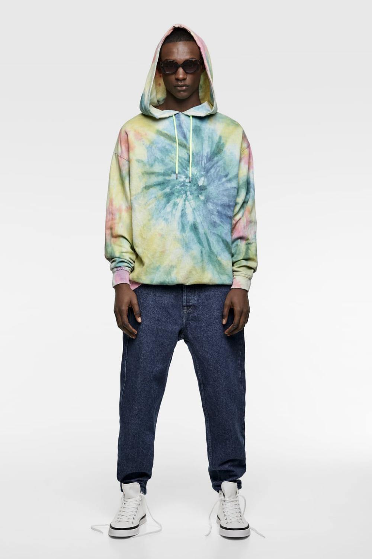 Tie Dye Denim Sweatshirt Hoodies Sweatshirts Man Zara United States Denim Sweatshirt Tie Dye Denim Sweatshirts [ 1500 x 1000 Pixel ]