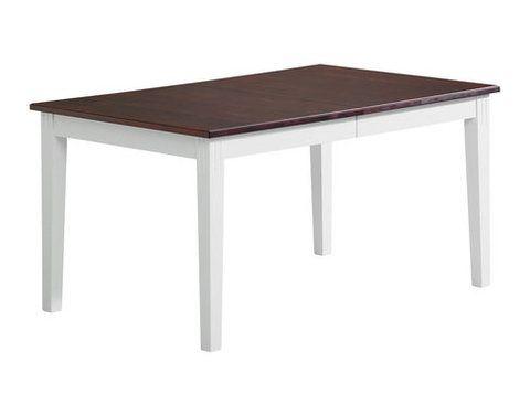 Ida Ruokapöytä 175x95+45 Valk/ruskea koivu