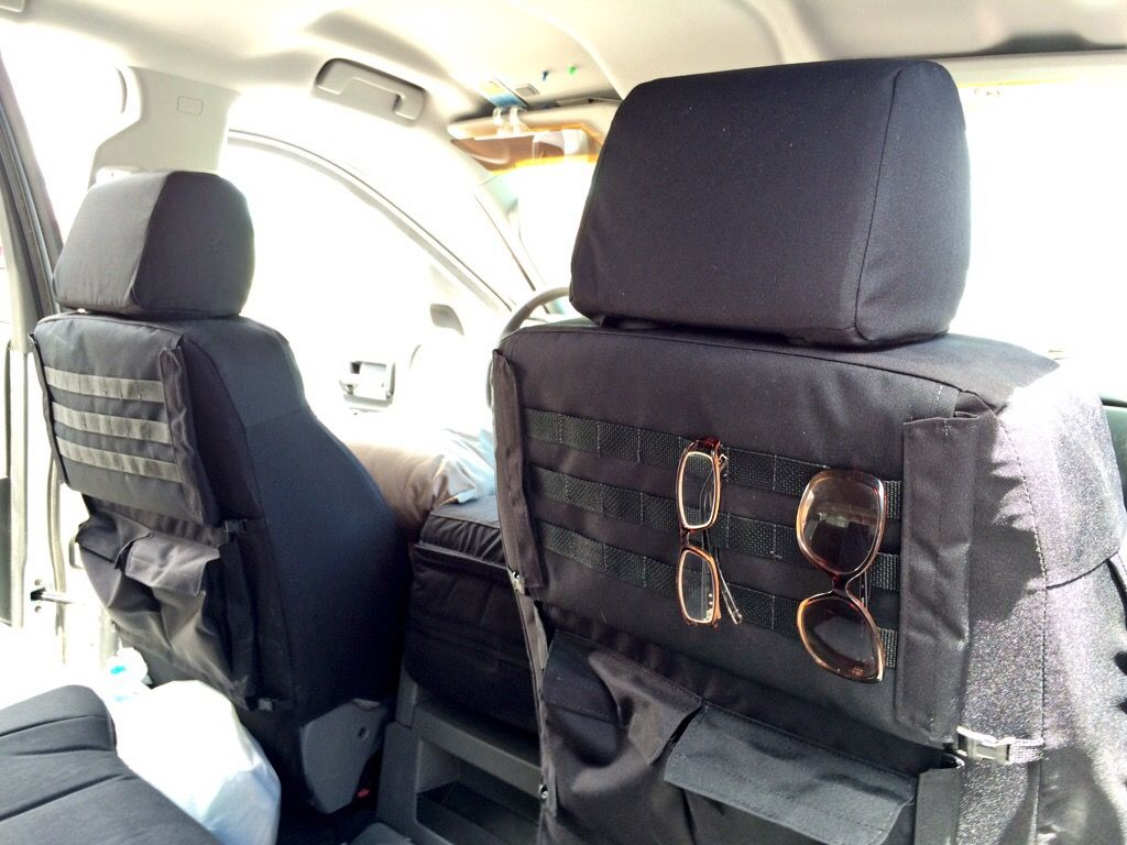 Tactical Package On Black Premium Dura Seat Covers 2015