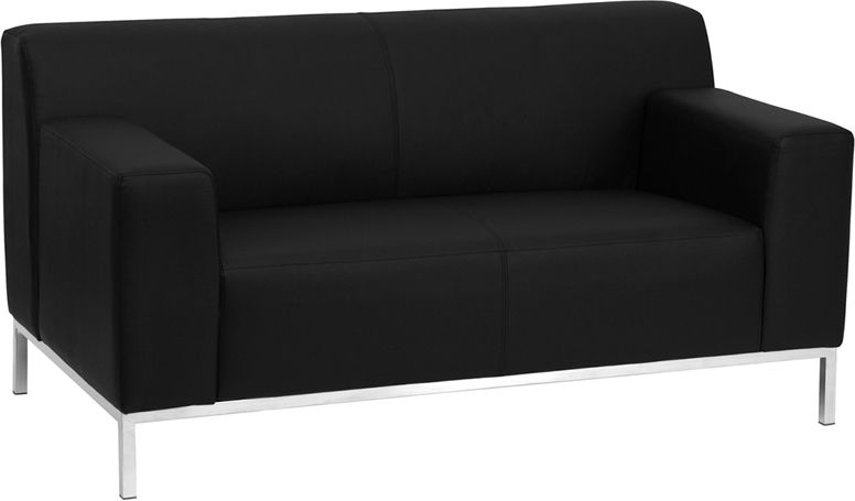 Incredible Flash Furniture Hercules Definity Black Loveseat Sofas Home Interior And Landscaping Ologienasavecom