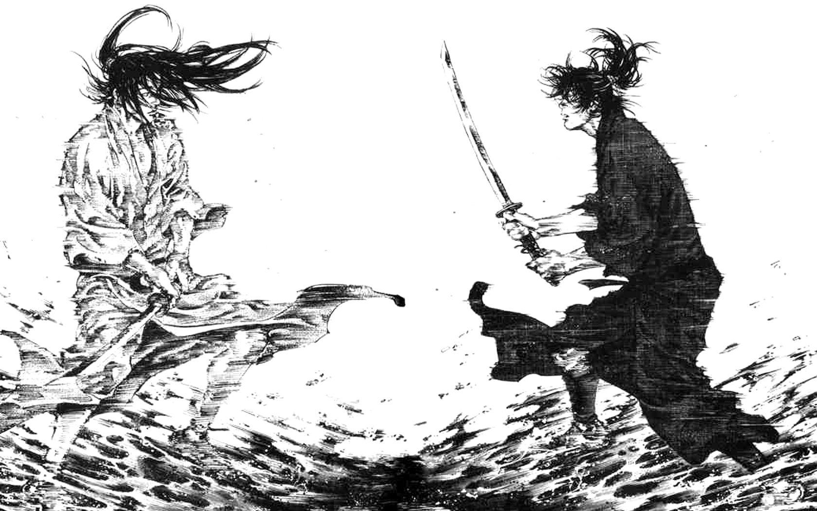 Vagabond Kojiro Musashi Manga Samurai Art Samurai Artwork