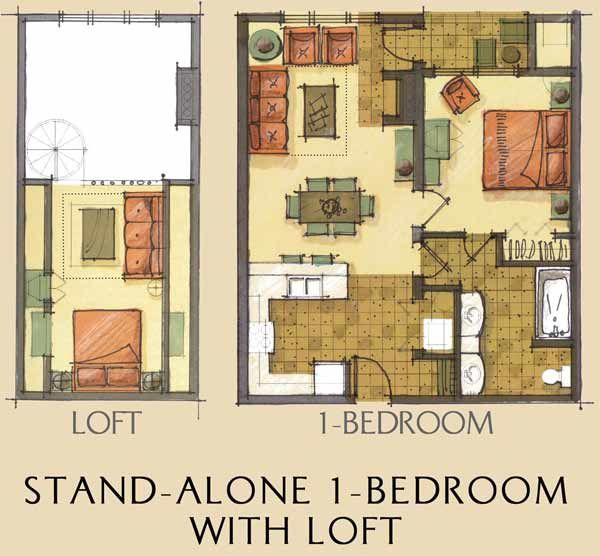 One Bedroom House Floor Plans click to view larger, click again to shrink. | sims house plans