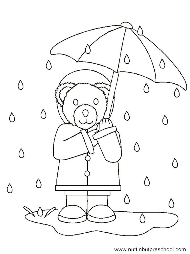 25 Wonderful Picture Of Rainy Day Coloring Pages Davemelillo Com Bear Coloring Pages Preschool Coloring Pages Coloring Pages