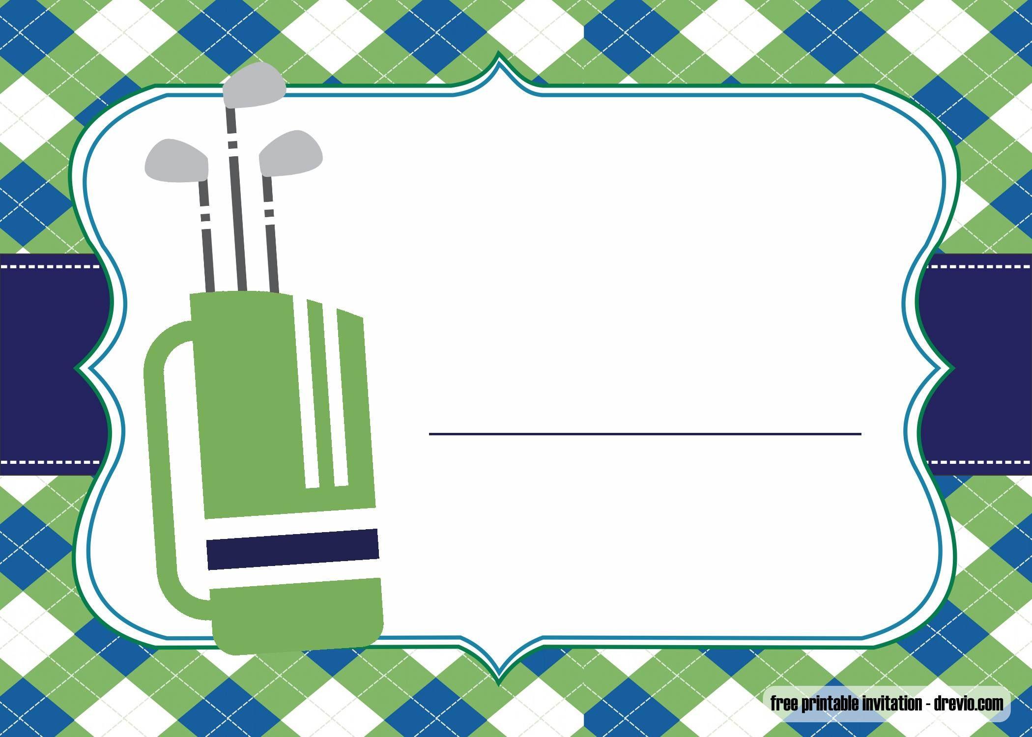 Nice Free Printable Golf Invitations Template Golf Party Einladungsvorlage Kostenlose Einladungsvorlagen