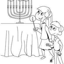 great, easy to print coloring pages for hanukkah (With ...