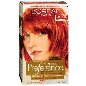 Loreal Preference Hair Color Rr07 Intense Red Copper 1 Each