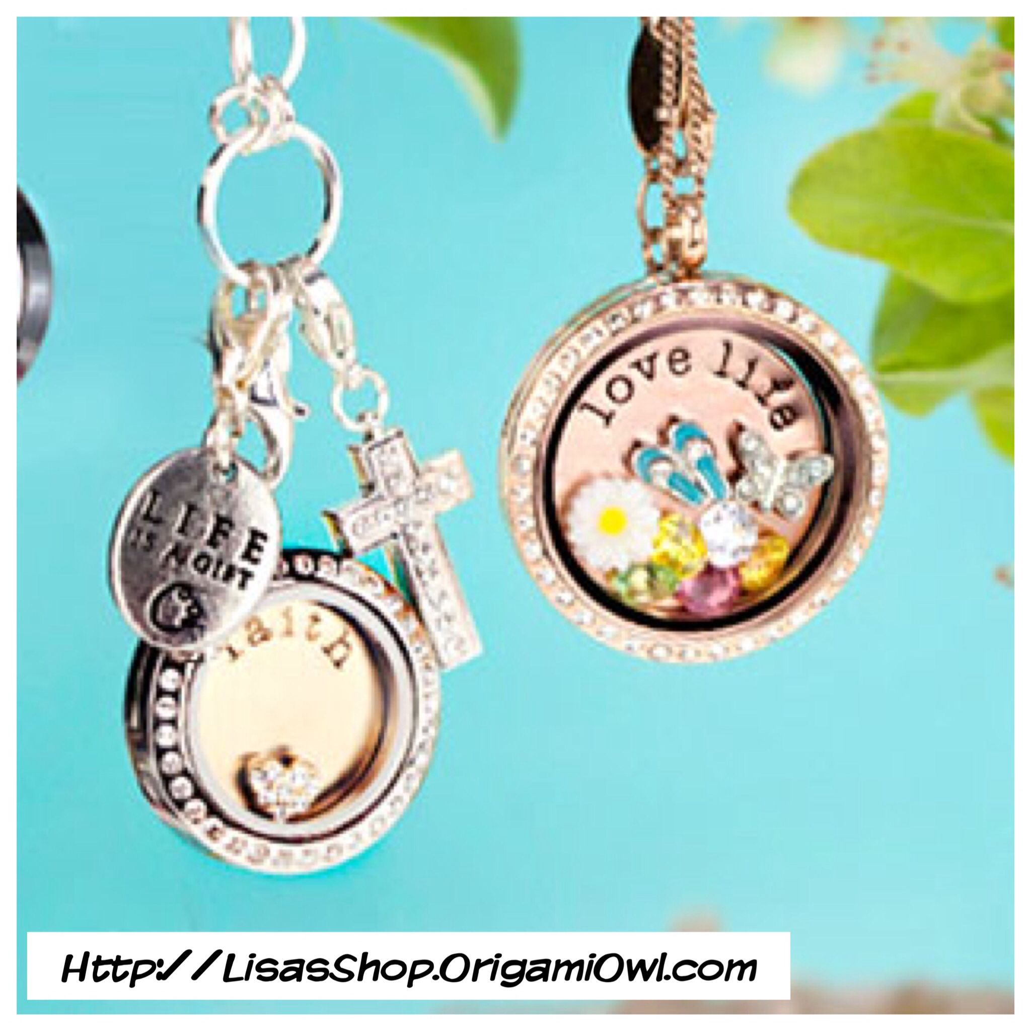 Origami Owl Lockets with Plates,Charms and Dangles  Http://LisasShop.OrigamiOwl.com