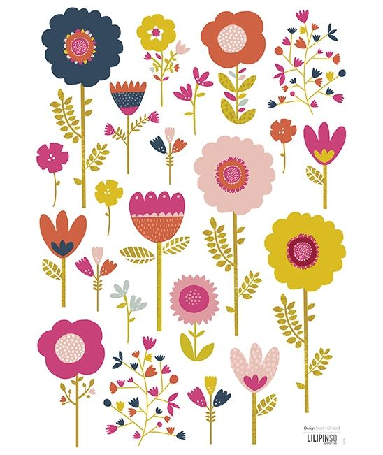 Vinilos infantiles ni a flores colores lilipinso for Vinilos dormitorio nina