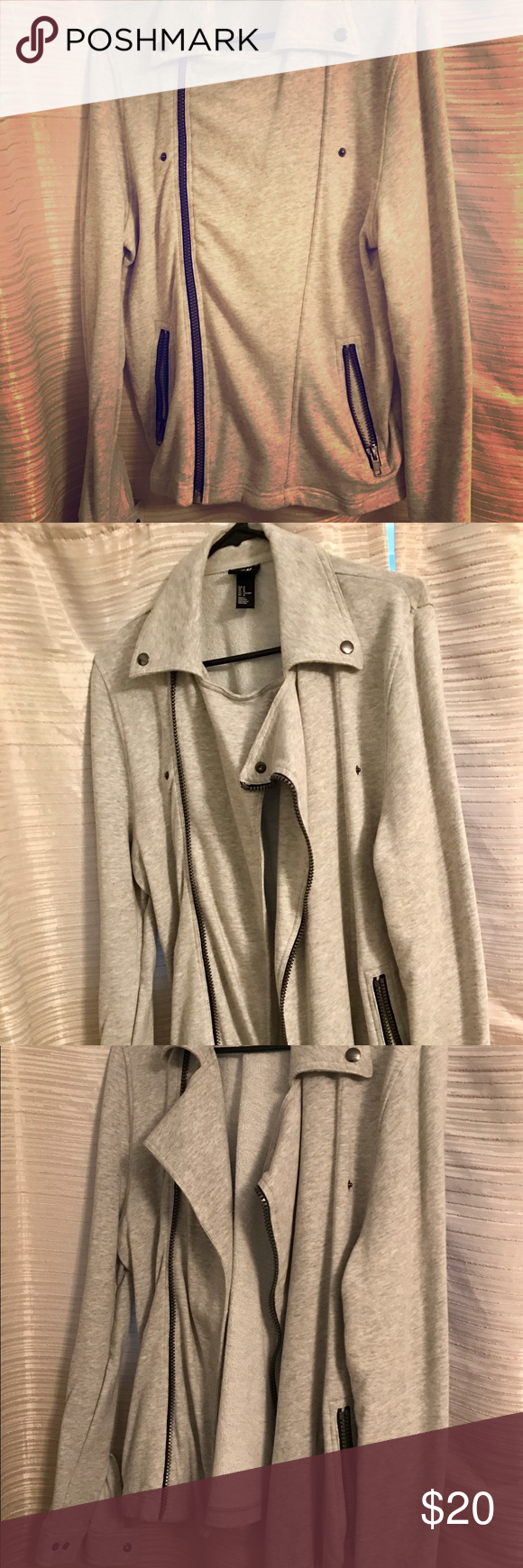 H&M Biker Style Sweater Jacket (With images) Biker style