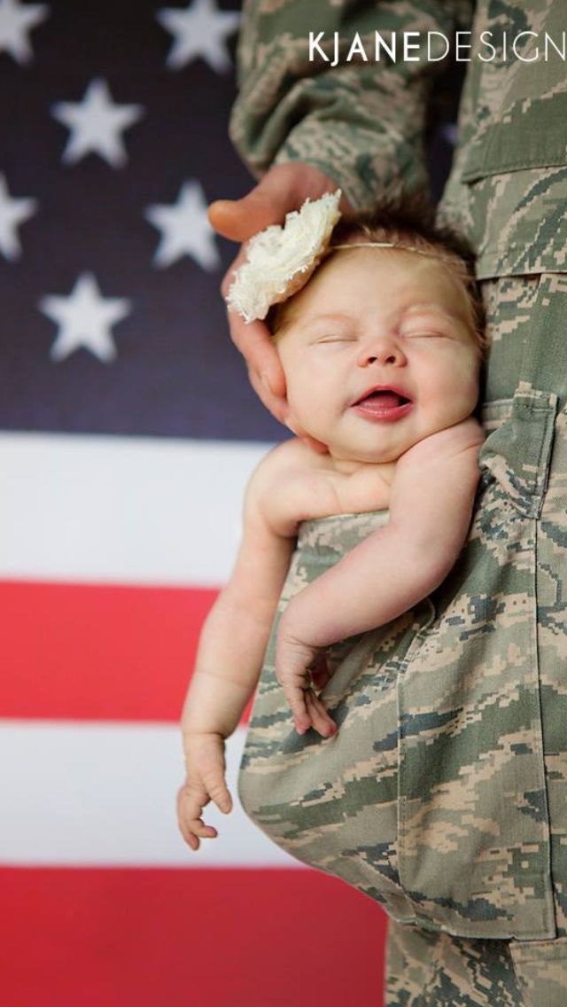 Military newborn we are doing this when we have babies daddys little girl