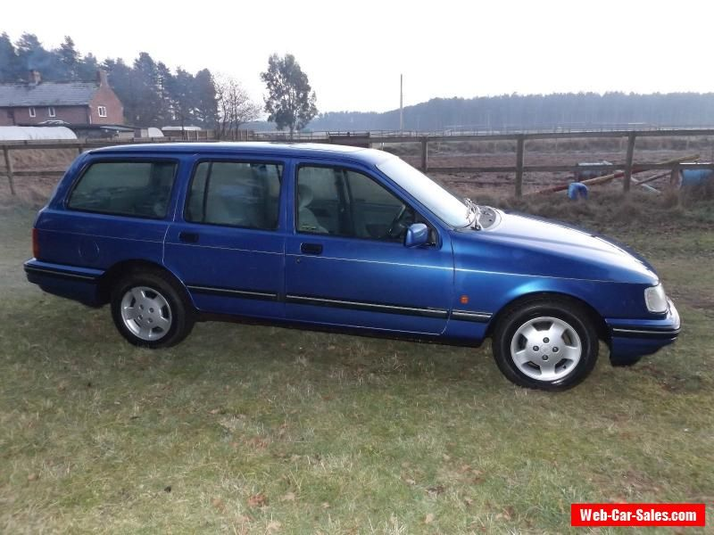 1992 Ford Sierra Azura Blue Estate Car 1 8 Petrol With Images