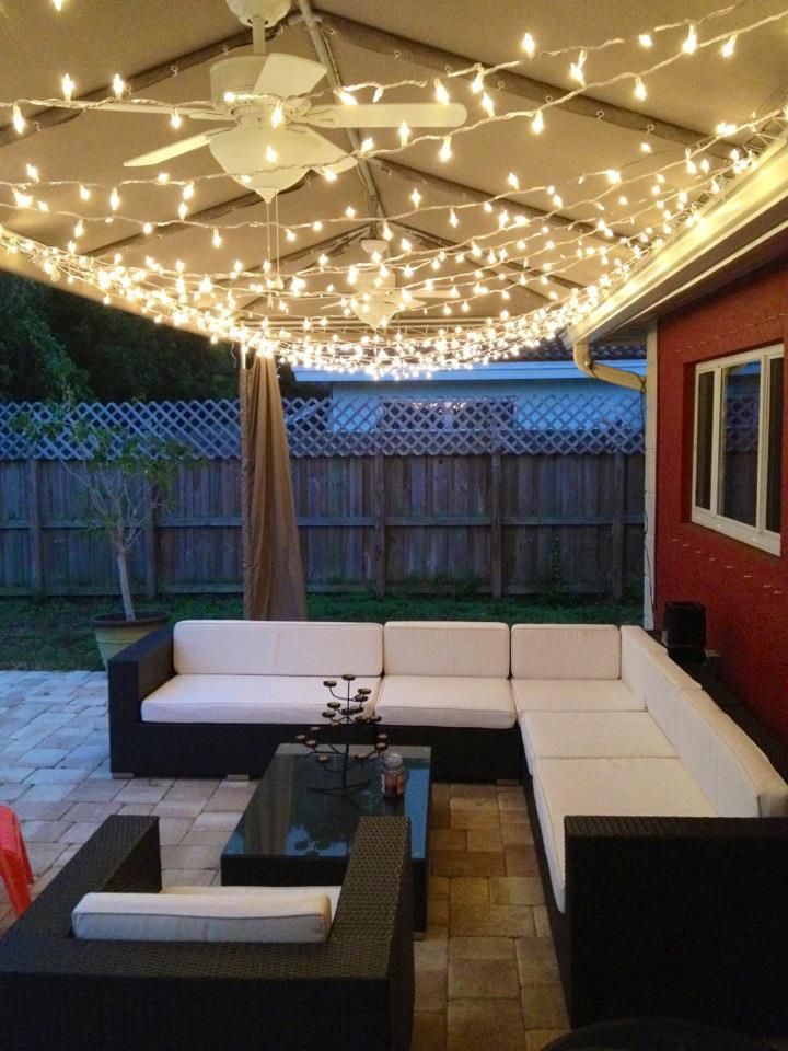 My Backyard Cabana Twinkle Lights Mine Backyard
