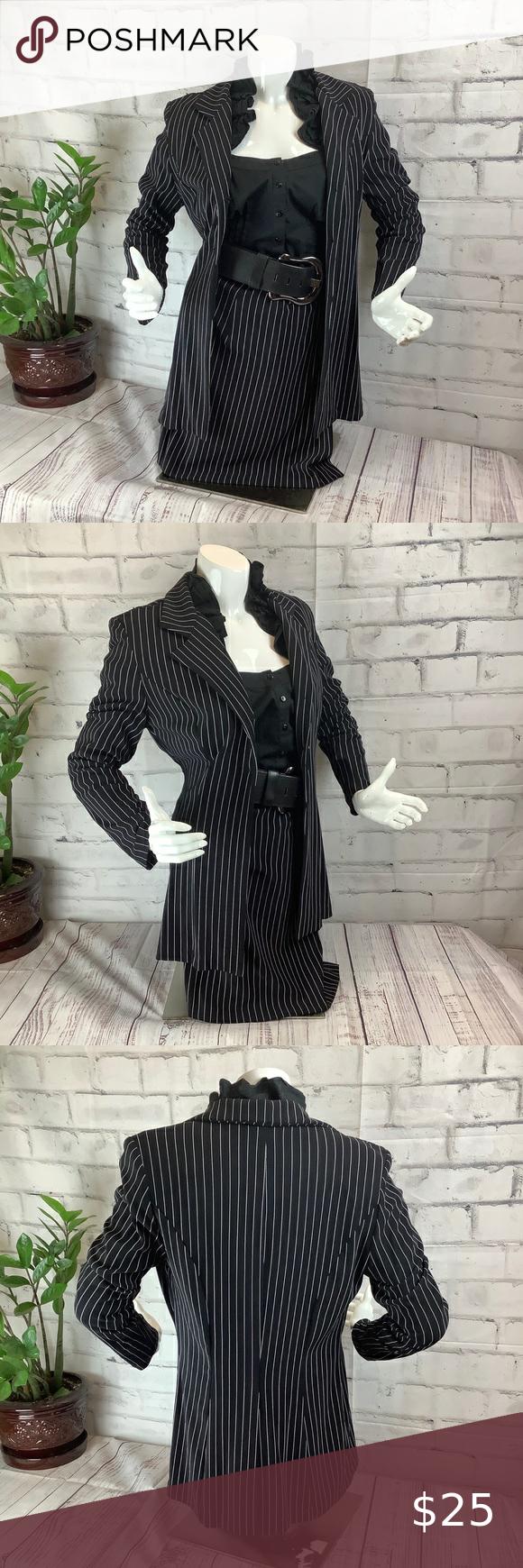 I just added this listing on Poshmark: Breaking Loose Striped suit size 9/10, Black. #shopmycloset #poshmark #fashion #shopping #style #forsale #Breaking Loose #Jackets & Blazers