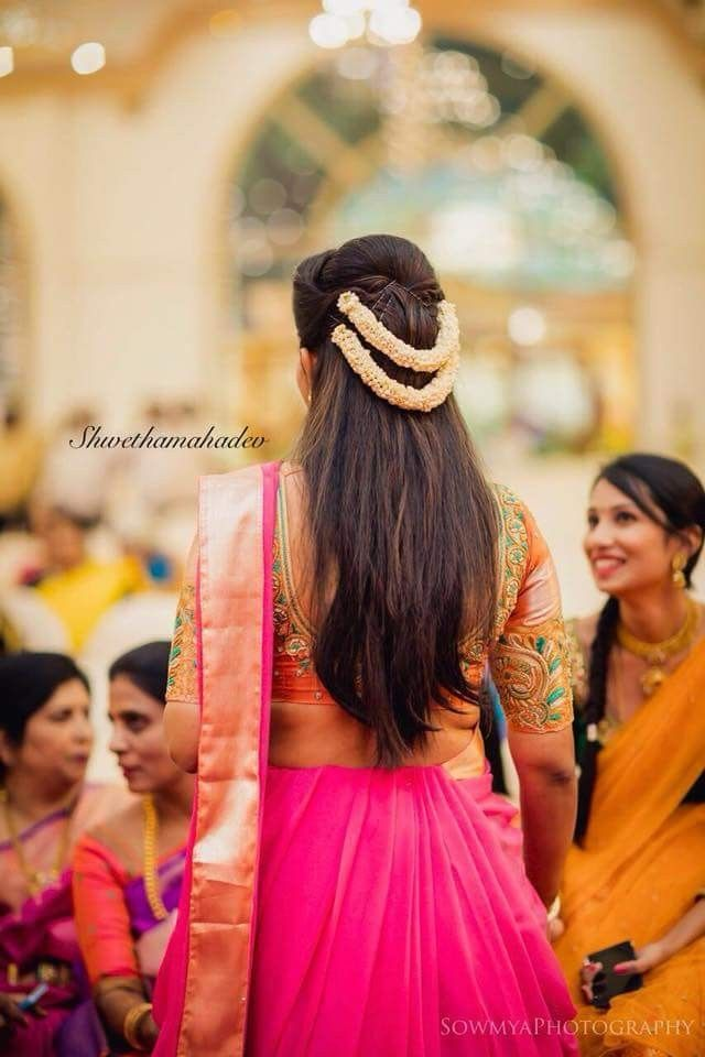 Pin By Abi Naidu On Wedding Hairstyles Saree Hairstyles Traditional Hairstyle Hair Styles