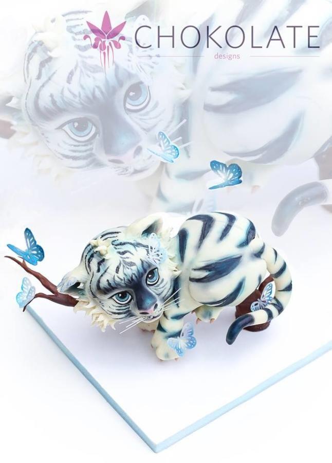 Baby White Tiger - Cake by ChokoLate