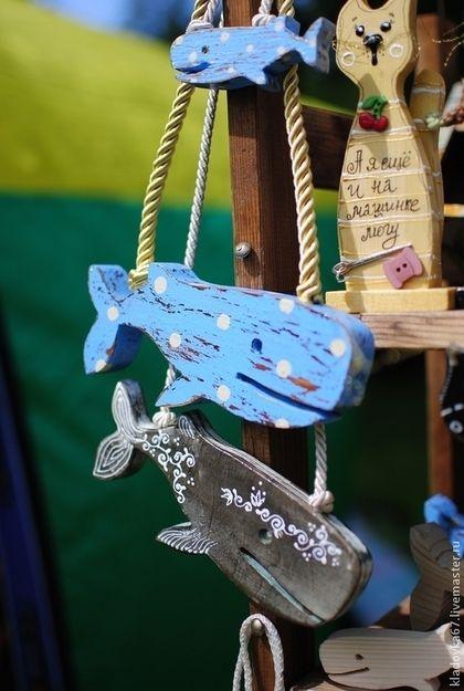Голубой Кит или Кашалот в Горох. Handmade.