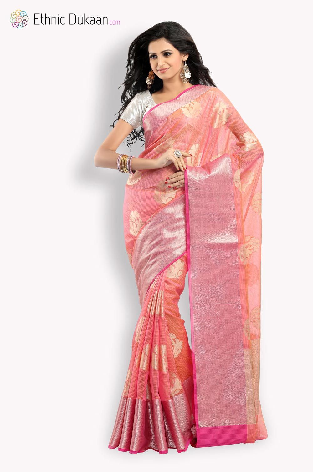 46745e061 Chanderi Kota Saree With Zari Self Weave Kota Sarees