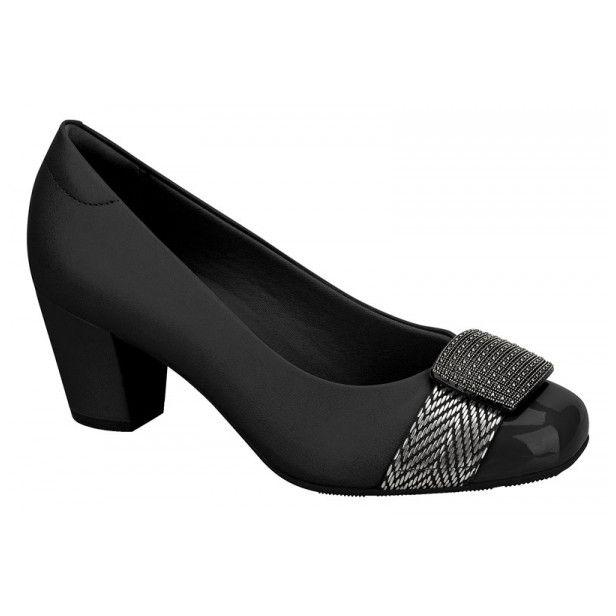 2f842a69a5 Sapato Feminino Modare Ultraconforto Salto Grosso Ref. 7323103 .   modafeminina  modaMasculina  moda