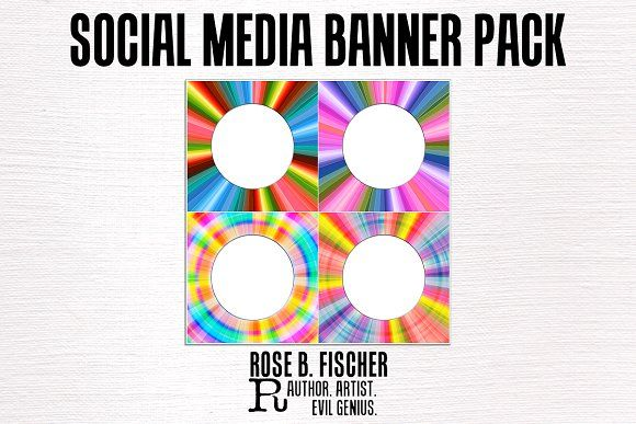Starburst Social Media Banners @creativework247 Templates