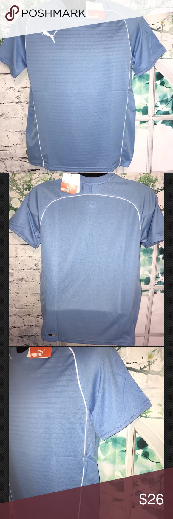 Puma Boy's Manchester Training Tee Color Blue- YXL Puma Boy's Manchester Training Tee     Color Blue-White  Size YXL   new with tags.  store display models.    shoulder to shoulder 19' sleeve length 11' full length 26'    100% polyester            100% Authentic  Any questions please feel free to message me,customer satisfaction is my priority. Positive Feedback rating will be appreciated. Thank you =) Puma Shirts Tees - Short Sleeve
