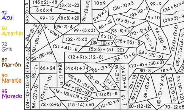 Calcular Dibujos Ma Gicos Sumar Multiplicar Y Sustraer Material Didactico Matematicas Sopa De Letras Dificil Piramides Matematicas