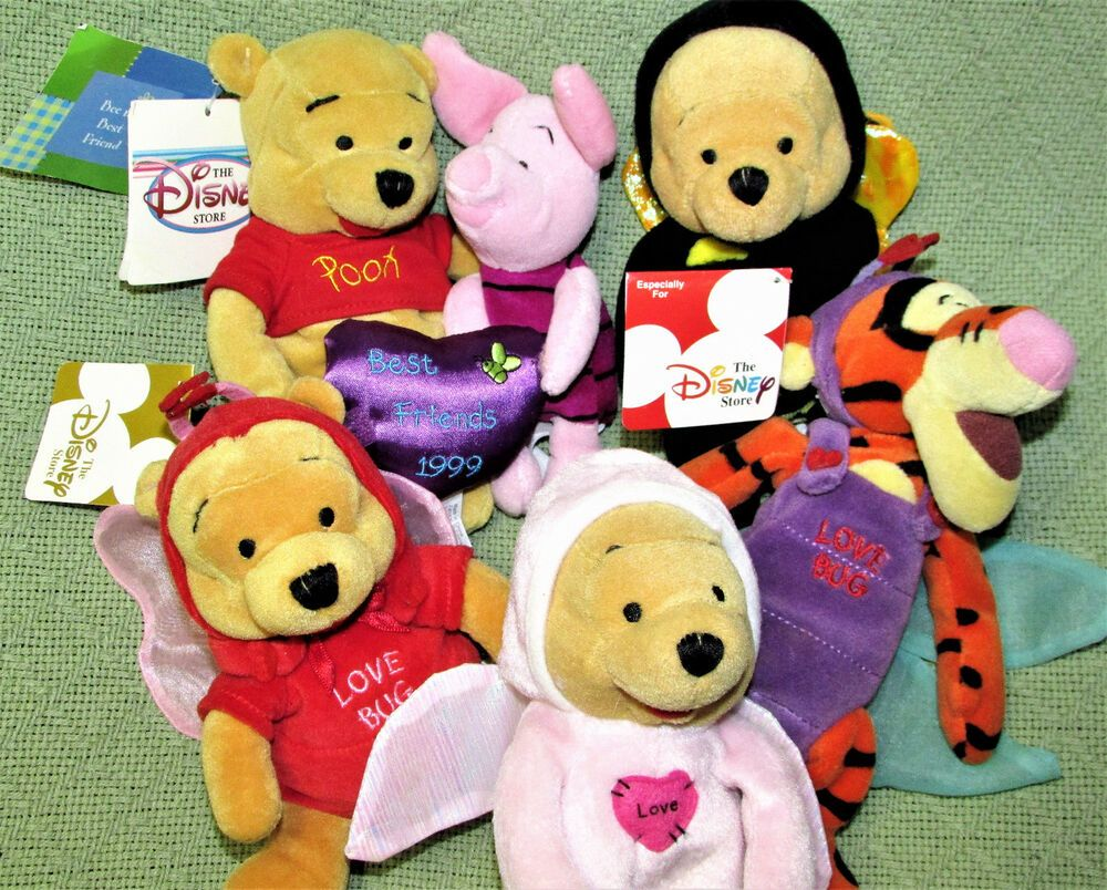 Marvelous Winnie The Pooh Beanbag Lot Valentine Love Bugs Firefly Bee Ncnpc Chair Design For Home Ncnpcorg