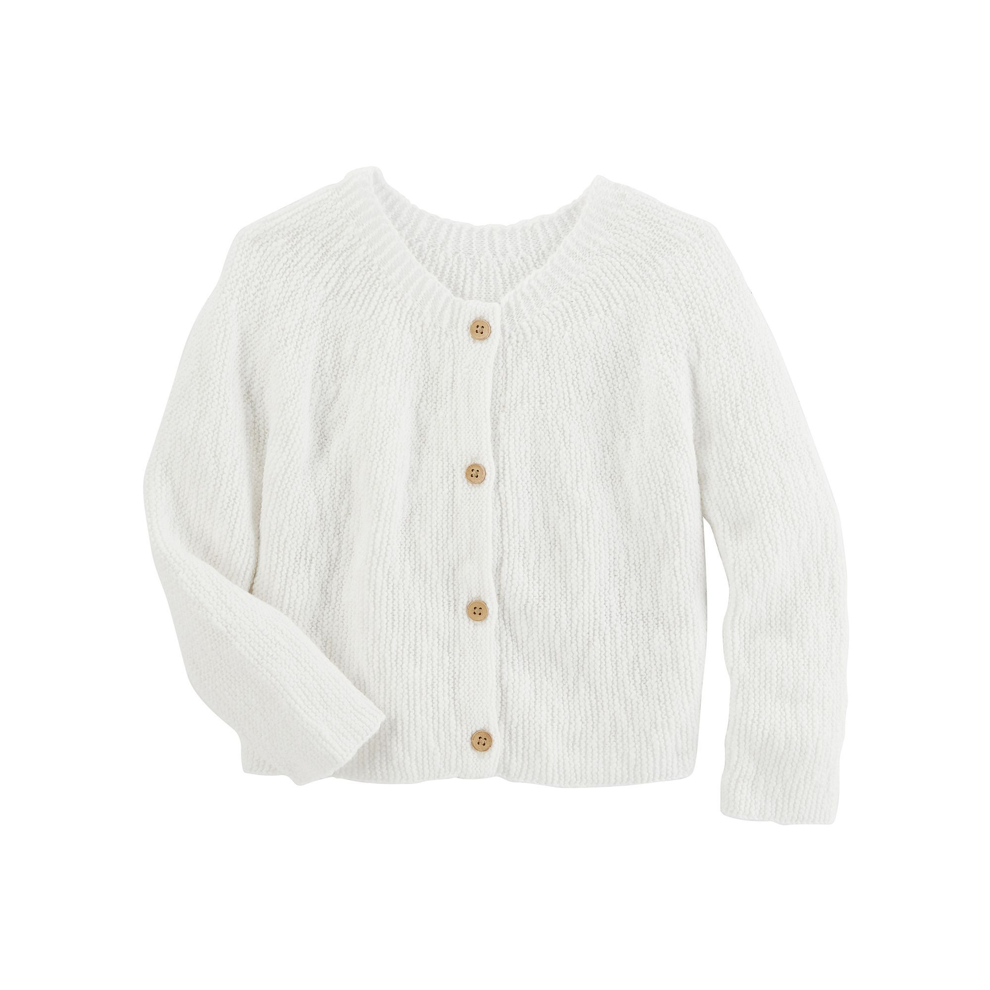 Toddler Girl OshKosh B'gosh® Sweater Knit Cardigan, Size: 3T, White
