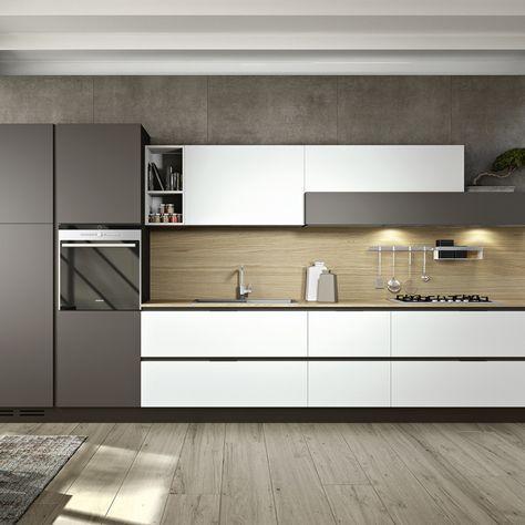 cucine moderne con penisola veneta cucine - Cerca con Google - küche ohne griffe