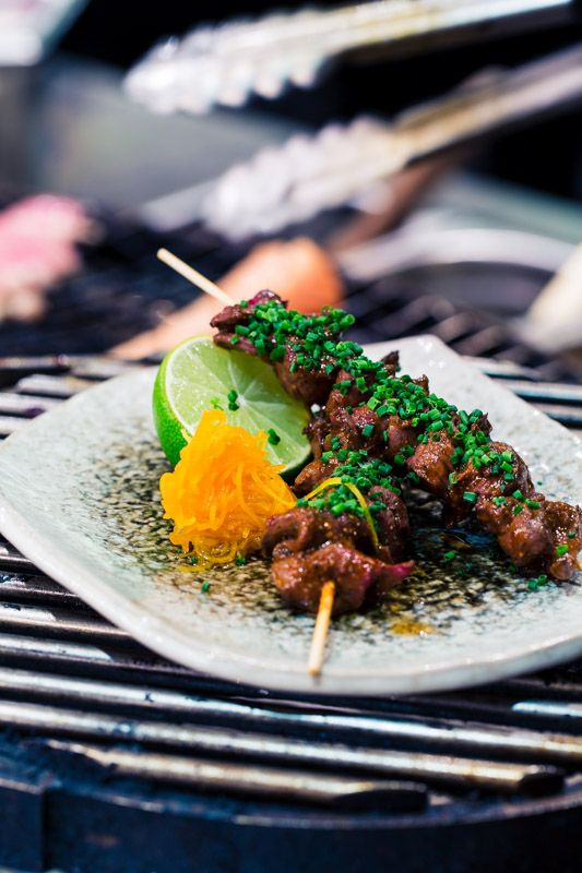 Grilled Beef heart anticucho