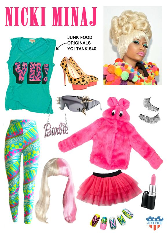 Official Junk Food Clothing Blog -GET HALLOWEEN READY - nicki minaj halloween ideas